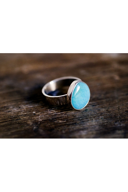 Teardrop Turquoise Sterling Silver Ring