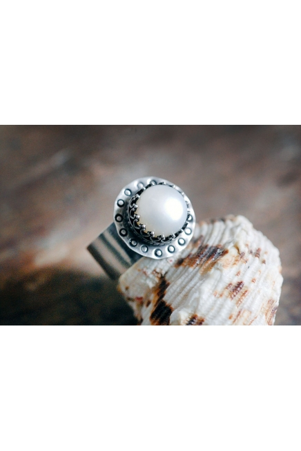 Freshwater Pearl Sterling Silver Ring