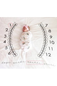 Baby Days Weeks Months Years Milestone Blanket | Throw For Infant & Babies 0-3 months, 3-6, 6-9, 9-12 Photography Backdrop Photo Prop For Newborn Bo
