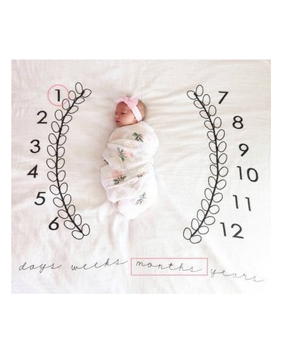 Baby Monthly Milestone Blanket | Baby Picture Swaddle Blanket| Newborn Accessories | Baby Shower Gift |Photo Prop Blanket| leaf blanket for baby pic