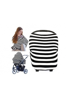 Breastfeeding/Nursing Scarf and Cover up used for Privacy while Nursing Baby. Nursing Scarf, 4-in-1 used as Car Seat Canopy, Stroller Cover and Shop
