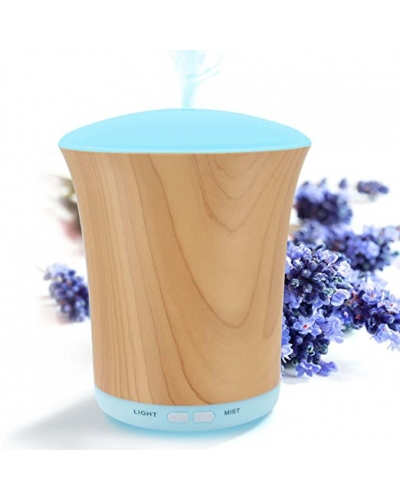 Essential Oil Diffuser Woodgrain, 200ml Aromatherapy Diffusers for Essential Oils and Humidifiers with Adjustable Mist Mode, Auto Shut-off