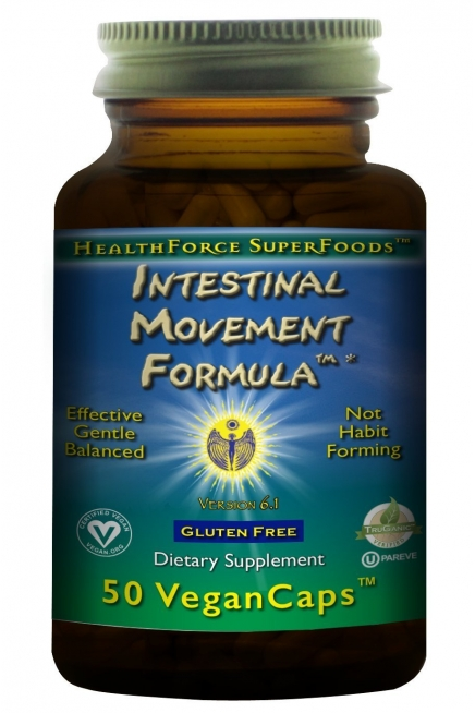 HealthForce SuperFoods Intestinal Movement Formula 50 Count Vegancaps