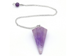 Natural Amethyst Crystal Pendulum