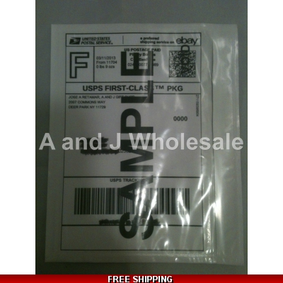 100 Clear Packing List Postage Shipping Label Envelopes 7x5.5 Self Adhesive title=