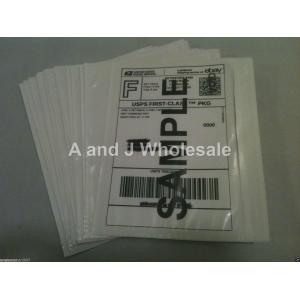 100 Clear Packing List Postage Shipping Label Envelopes 7x5.5 Self Adhesive