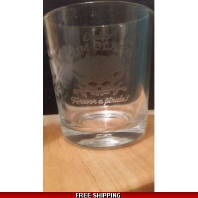 Personalised rum whiskey or gin glass