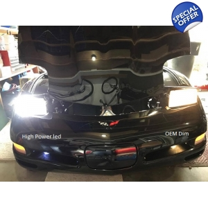 C5 CORVETTE LED 120W 12000LM CREE HEADLIGHTS CONVERSION