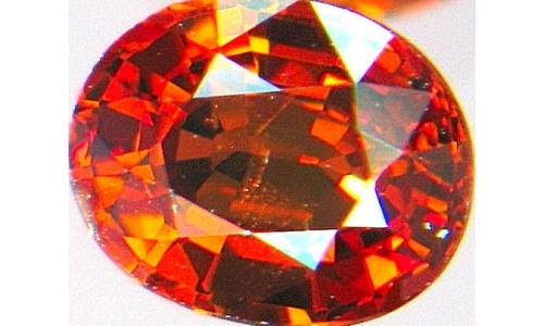 1 ct 8x6x4 mm Nigerian Loose faceted Spessartine Garnet 340A