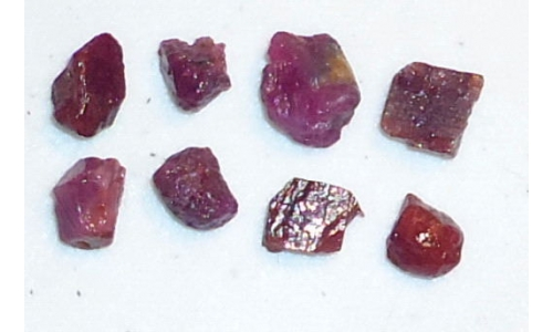 Ox Blood Ruby Rough 20 cts 7 To 10 MM For Sale 588C