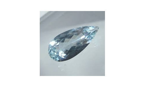 Aquamarine natural Loose Faceted 13x7x4mm 1.7 cts for sale O178