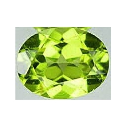 1 ct 7x5x4 MM Peridote loose..