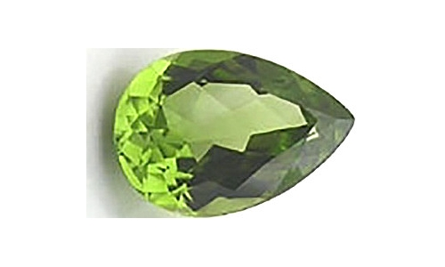 1 ct 10x7x5 mm Peridot loose faceted 523D