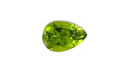 Peridot loose faceted 1 ct 7x5x4 MM  1424C