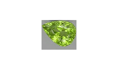 Peridot loose faceted 1 ct 7x5x4 MM  1427C