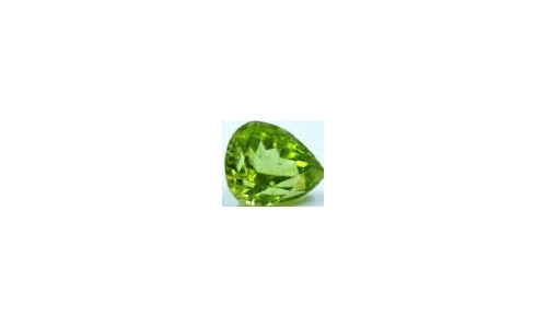 Peridot loose faceted 1 ct 7x5x4 MM  1461C