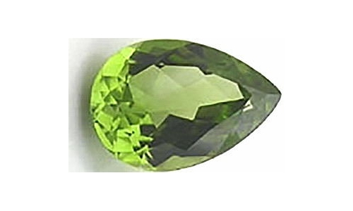 Peridot loose faceted 1 ct 7x5x4 MM  1429C