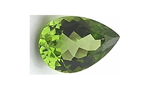 Peridot loose faceted 1 ct 7x5x4 MM  1144C
