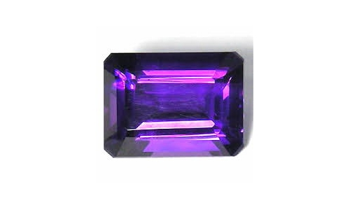 2.5 cts 11x8x6 mm Amethyst loose faceted 1664C