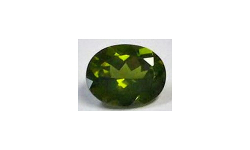 Green Tourmaline .80 cts 8x6x3 mm  53D