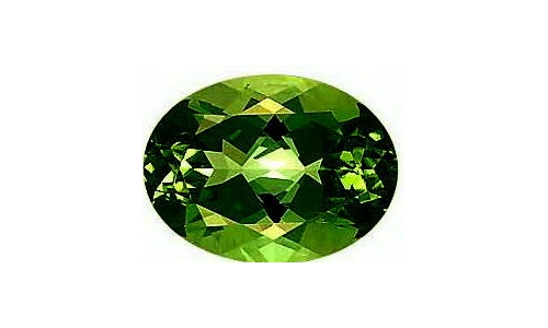 Green Tourmaline .80 cts 8x6x3 mm  1371D