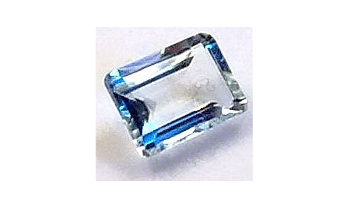 Aquamarine faceted 3.5 cts 13x7x5 MM natural 789D