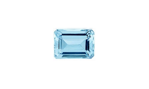 Aquamarine faceted 2.5 cts 9x7x4 MM Natural 937D