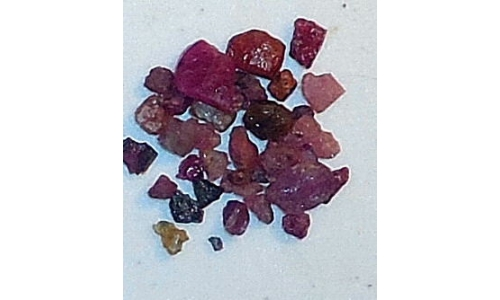 Ox Blood Ruby Rough 15 cts 5 to 10 MM 323E