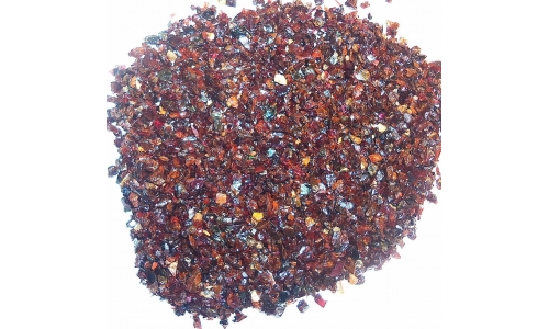 Rhodolite Garnet chips for inlay 700 cts 533E