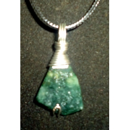 Jade in Sterling Necklace 35..