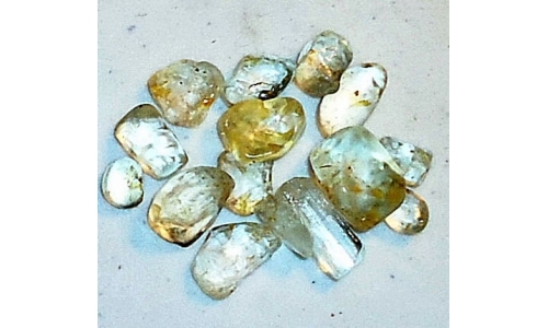 10 to 12 MM Topaz Facet Grade Rough 50 cts 1222E