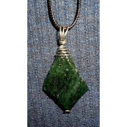 Jade in Sterling Necklace 45..