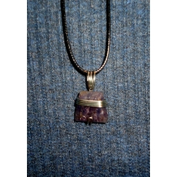 Iolite And Sterling Necklace..