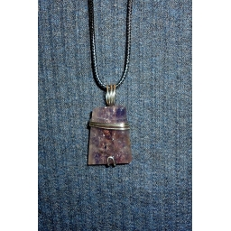 Iolite in Silver Necklace 35..
