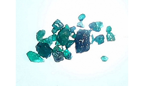 Columbian Emerald Rough 5 cts  2 to 8 MM 1666E