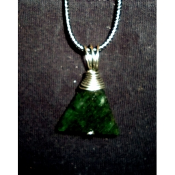 Jade in Silver Necklace Hand..