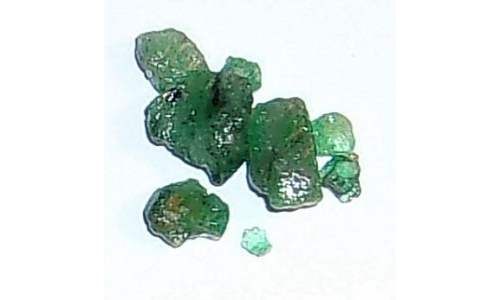 Colombian Emerald Rough 7 cts  3 to 7 MM 1911E