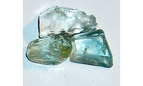 12 to 17 MM Blue African Topaz Facet Grade Rough 22 cts 1925E