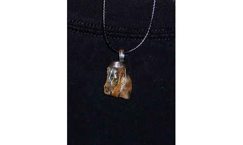 Citrine And Silver 35X15X10 MM Hand Made 337F