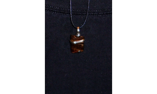 Tigers eye in Silver 25X18X5 MM Hand made 367F