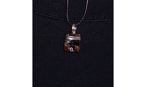 Tigers eye in Silver 30X15X5 MM Hand made 400F
