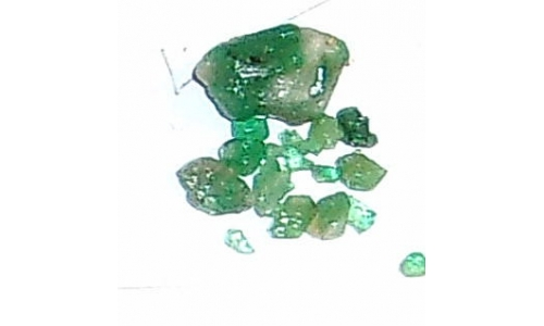 Colombian Emerald Rough Natural 5 cts  3 to 10 MM 405F