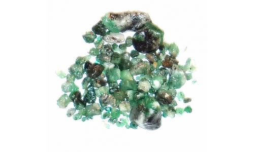 Colombian Emerald Rough Natural 80 cts  3 to 20 MM 570F