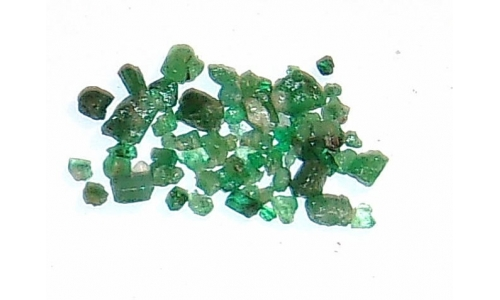 Colombian Emerald Rough Natural 14 cts  3 to 6 MM 571F