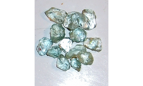 10 to 15 MM Blue African Topaz Facet Grade Rough 70 cts 753F