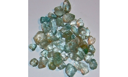 8 to 18  MM Blue Africian Topaz Rough 280 cts 806F