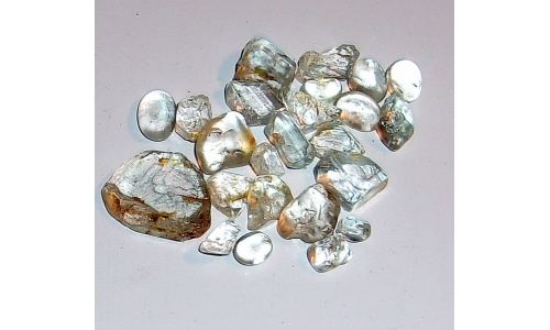 8 to 20 MM African Topaz Facet Grade Rough 120 cts 861F