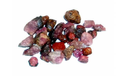 Natural Ruby North Carolina 130 cts 5 to 15 MM 891F