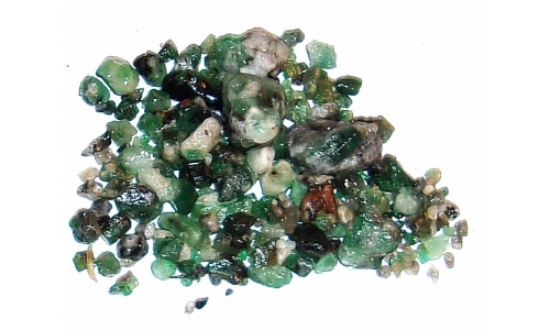 Colombian Emerald Rough Natural 90 cts 3 to 15 MM 908F