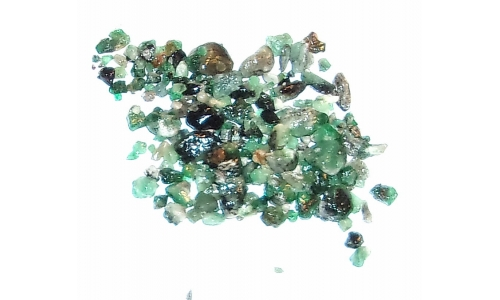 Colombian Emerald Rough Natural 50 cts 3 to 10 MM 910F